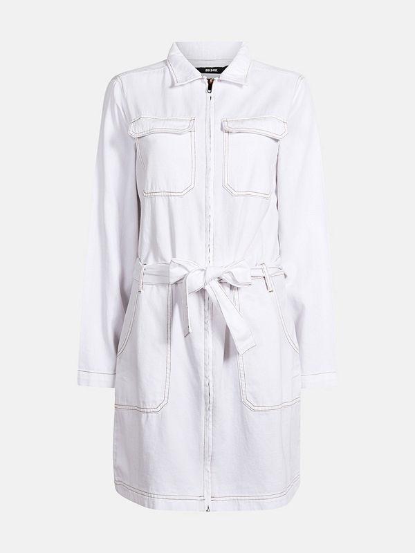 Bik Bok Clover White cotton denim dress - Vit