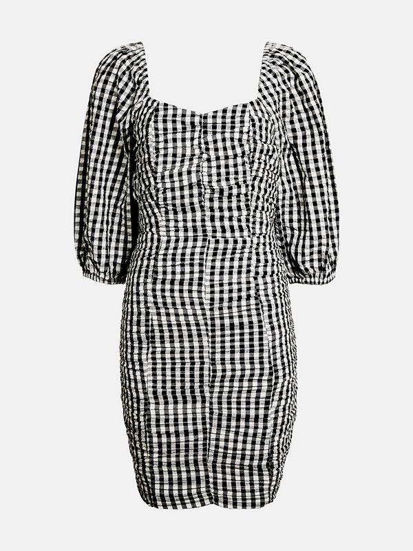 Bik Bok Yasmine cotton seersucker dress - Multi