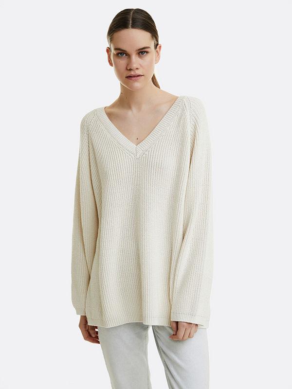 Bik Bok Willia knitted jumper - Vit