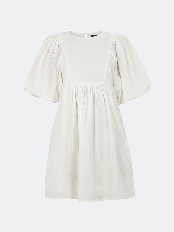 Bik Bok Daydreamer klänning med knytband - Offwhite