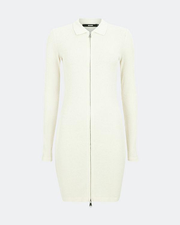 Bik Bok Stella stickad klänning - Offwhite