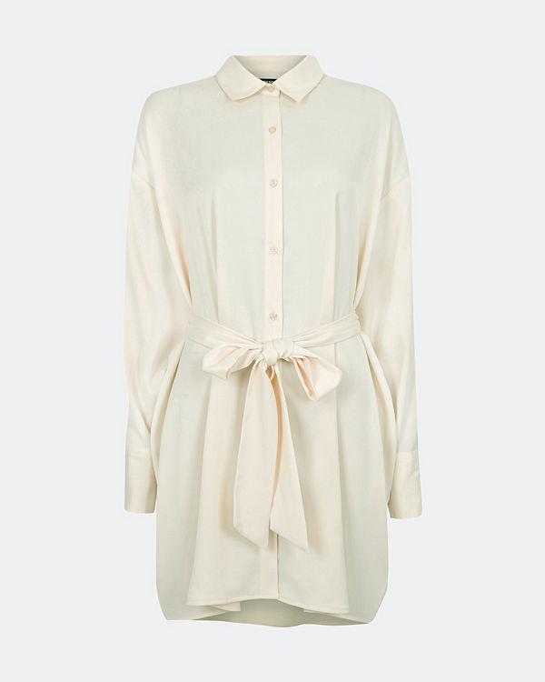 Bik Bok Hailey B Satin klänning - Offwhite