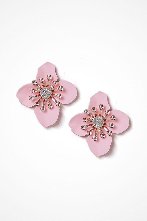 Gina Tricot örhängen Pastel Pink Flower Large Stud Earrings
