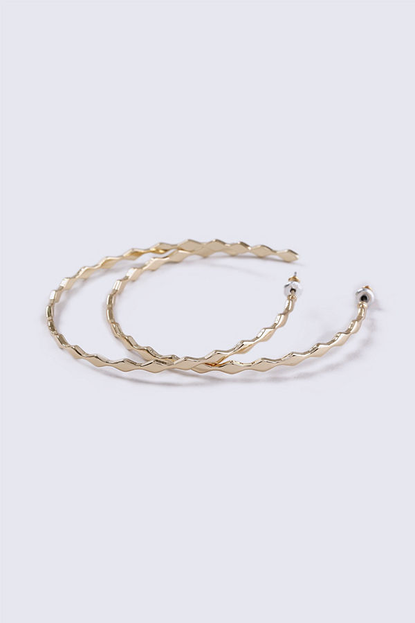 Gina Tricot örhängen Gold Look Diamond Fine Hoop Earrings