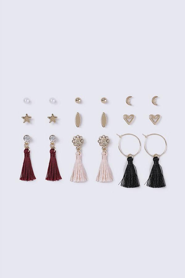 Gina Tricot örhängen Gold Look Heart Multipack Earrings