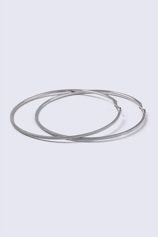 Gina Tricot örhängen Silver Look Gliter Large Hoop Earrings