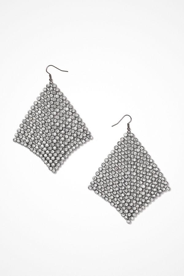 Gina Tricot örhängen Rhinestone Drape Tassel Earrings
