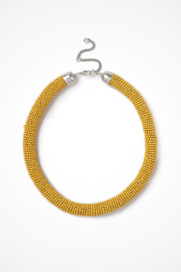 Gina Tricot halsband Mustard Beaded Tube Neckwear