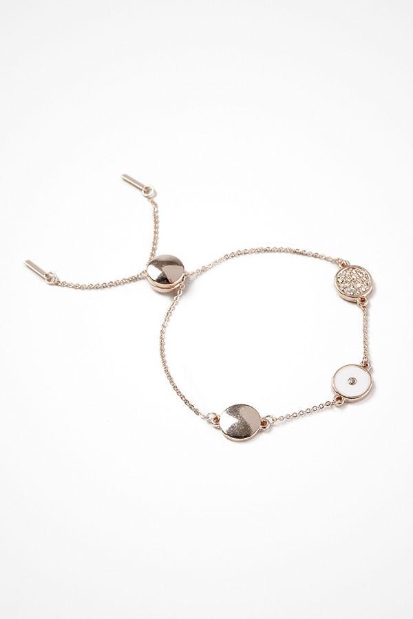 Gina Tricot armband Rose Gold Look Enamel Circle Wristwear
