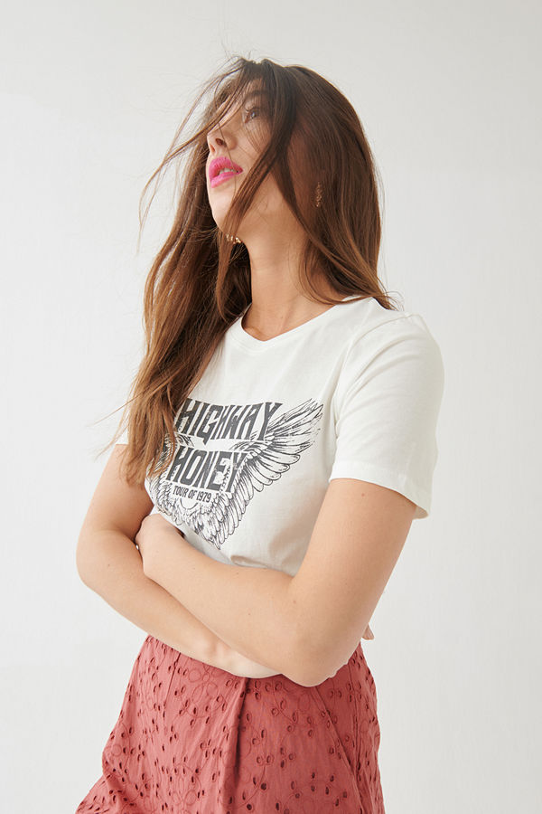 Gina Tricot Ivory tee