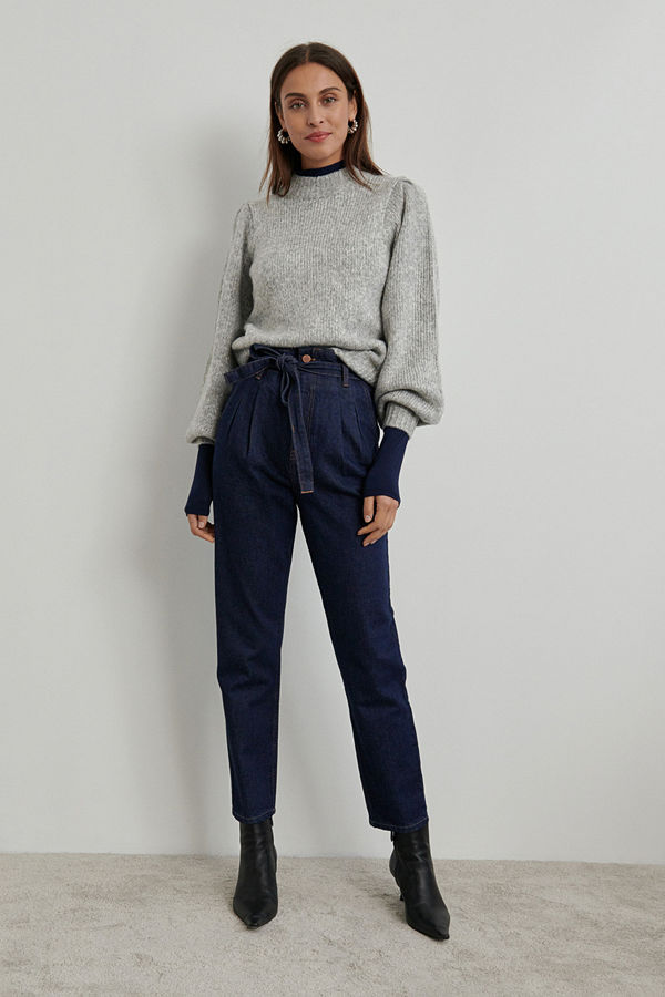 Gina Tricot Paperbag pleated jeans