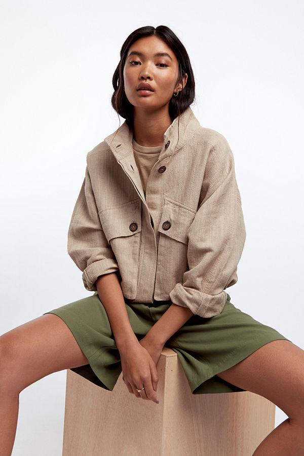 Gina Tricot Maja linen trucker jacket