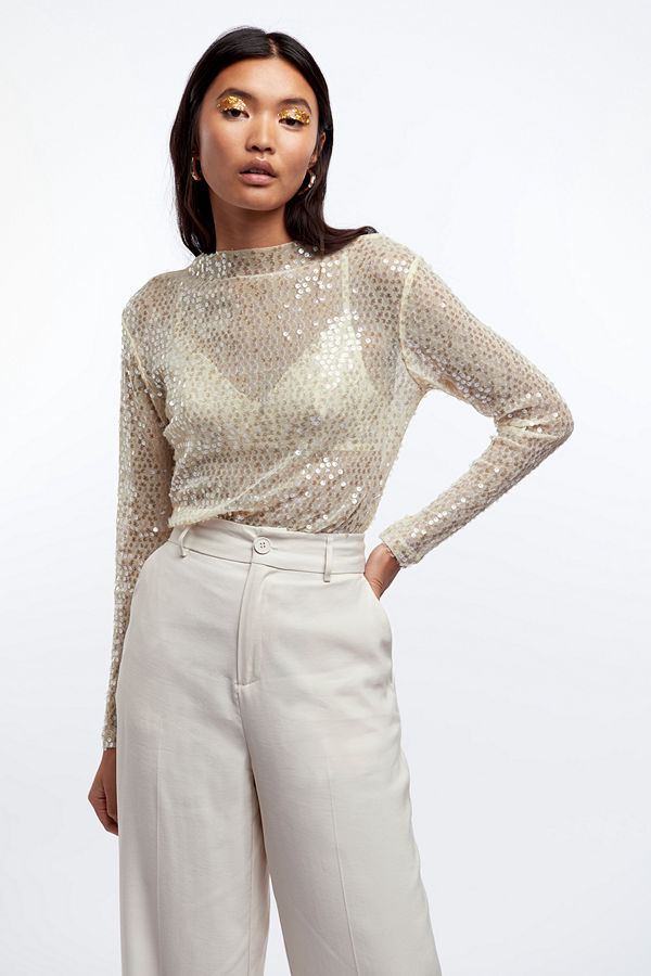 Gina Tricot Silvana sequins top