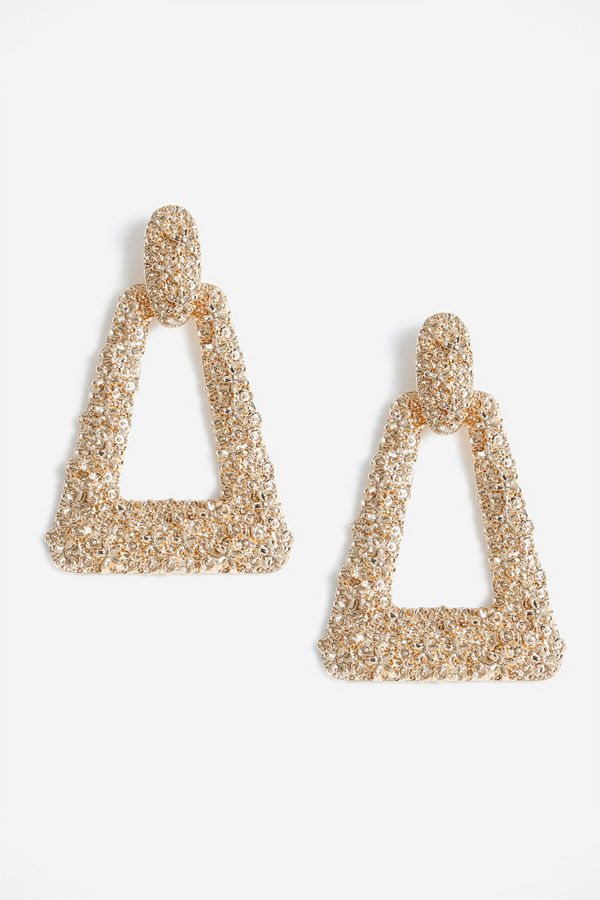 Gina Tricot örhängen Gold Look Door Knocker Earrings