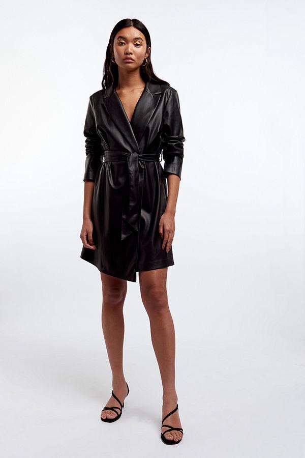 Gina Tricot Val PU blazer dress
