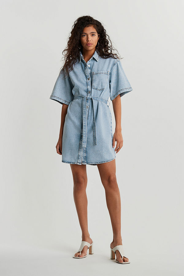 Gina Tricot Short sleeve denim dress