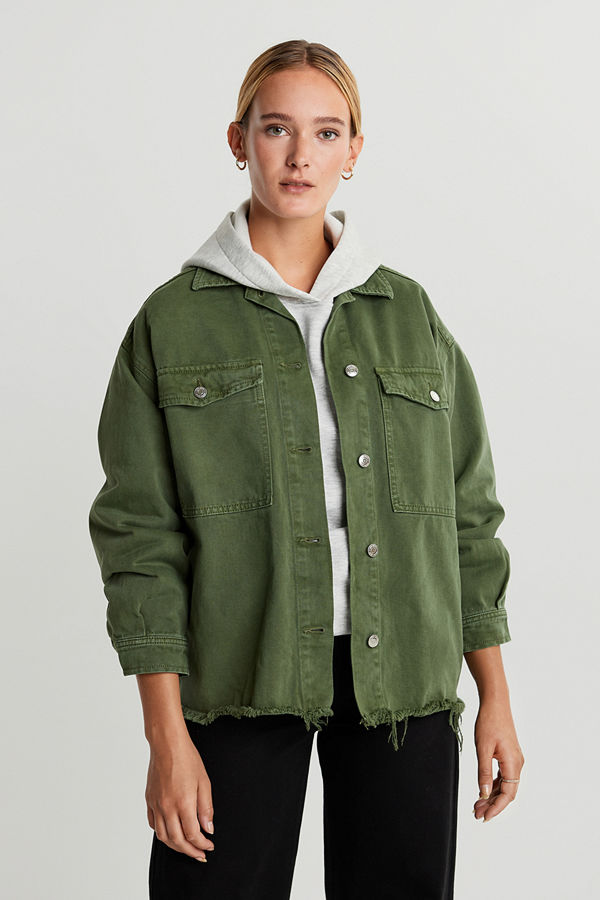 Gina Tricot Shirt denim jacket