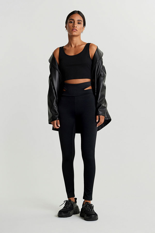 Gina Tricot Elise cut out leggings