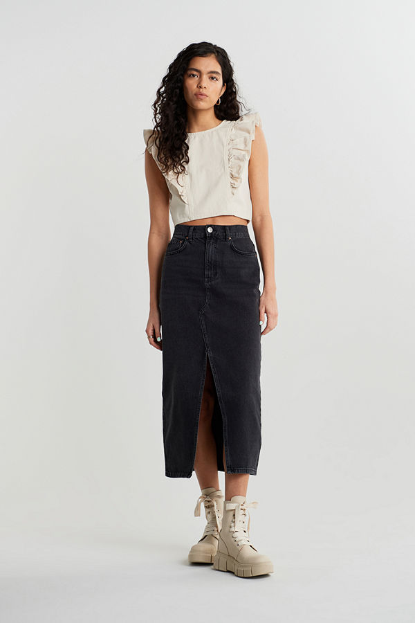 Gina Tricot Original long denim skirt
