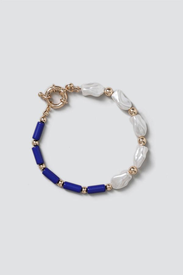 Gina Tricot armband Navy Beaded Pearl Bracelet