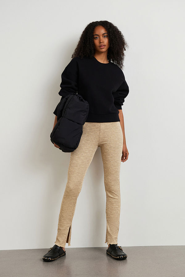 Gina Tricot omönstrade byxor Signe rib trousers