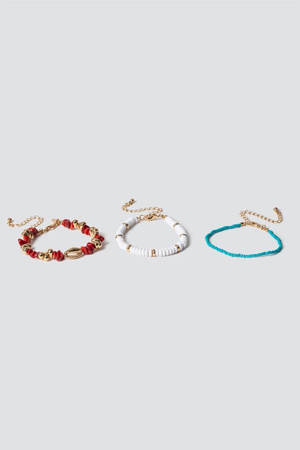 Gina Tricot armband Bright Mix Chipping Bracelet Pack