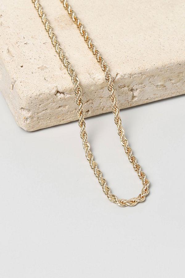 Gina Tricot örhängen Real Gold Plated Twist Chain