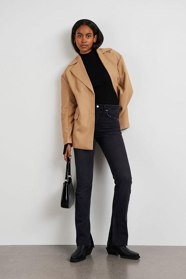 Gina Tricot High waist slit jeans