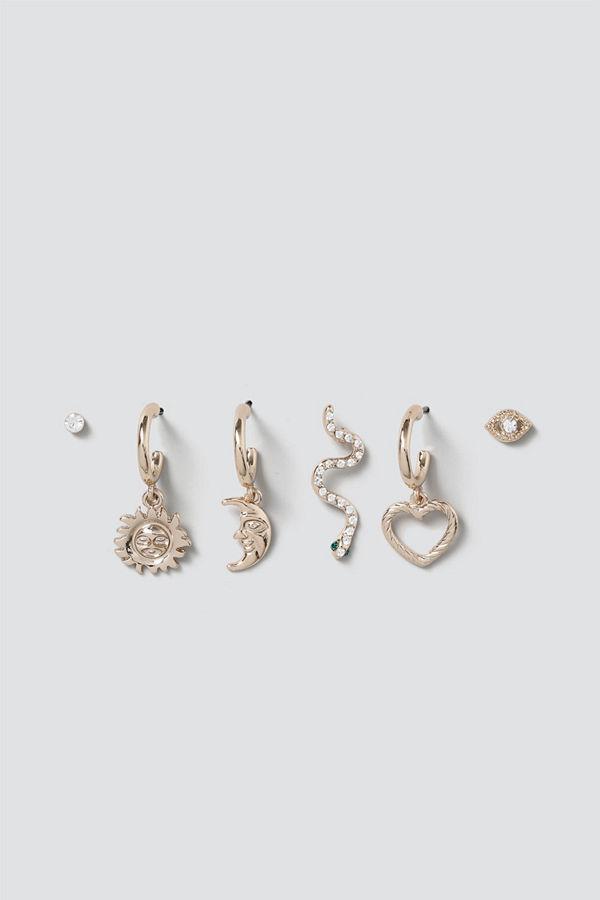 Gina Tricot örhängen Celestial Mix Charm Earring Pack