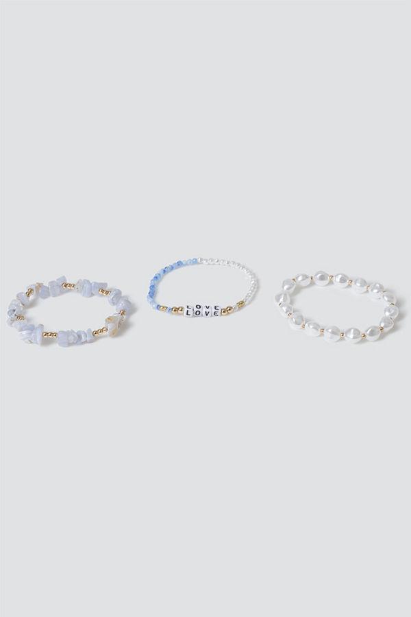 Gina Tricot armband Love Bead & Pearl Bracelet Pack