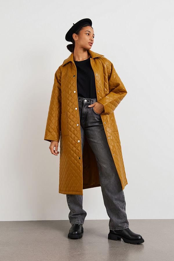 Gina Tricot Yamuna quilted Pu coat