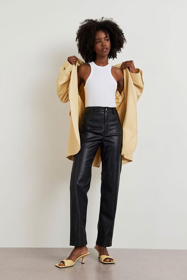 Gina Tricot byxor 90s PU trousers