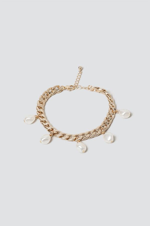 Gina Tricot halsband Pearl Drop Chain Bracelet