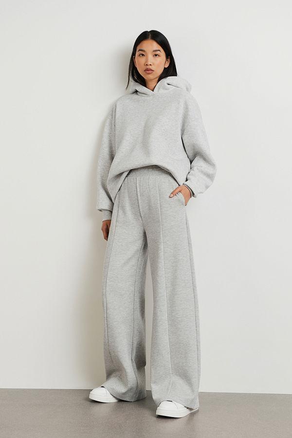 Gina Tricot ljusgrå byxor Louise trousers