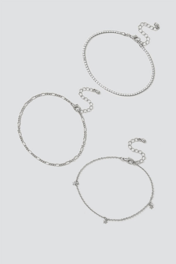 Gina Tricot smycke Gold Star & Chain Anklet Pack