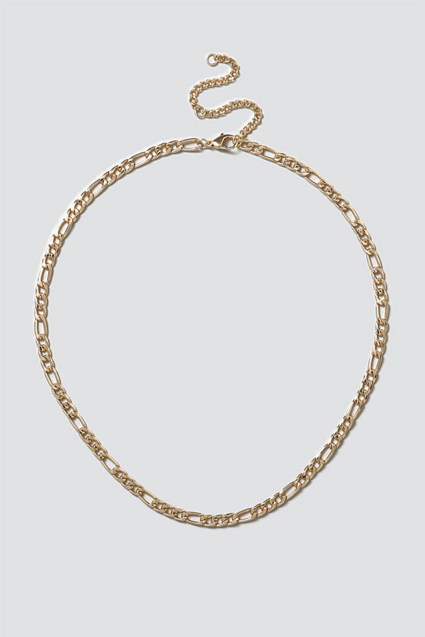 Gina Tricot halsband Gold Figaro Chain