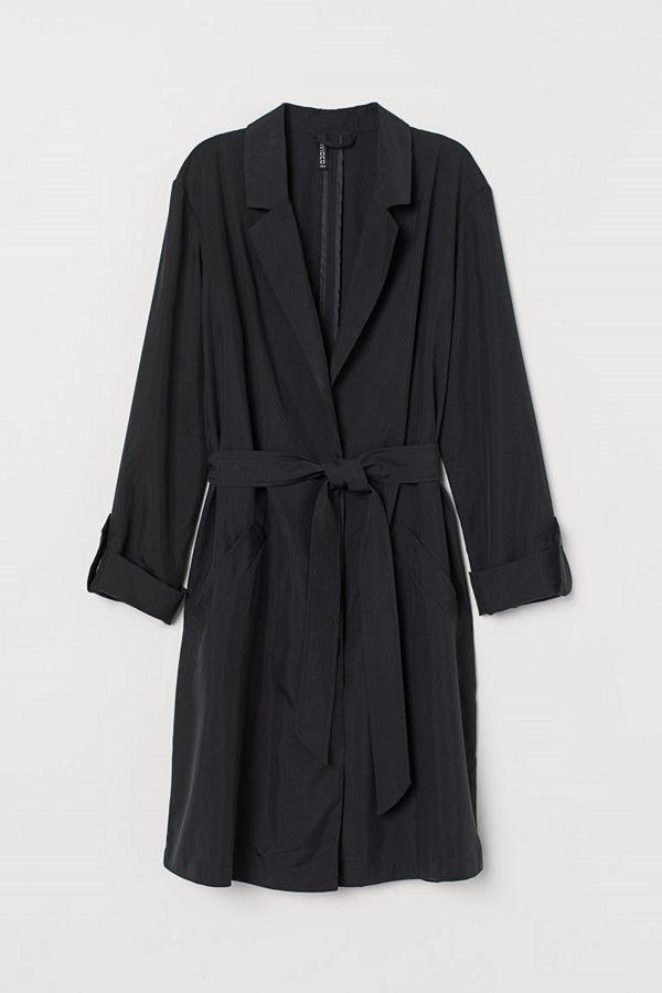 H&M Trenchcoat i modalmix svart