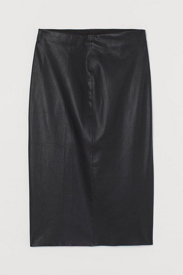 H&M Pennkjol i läder svart