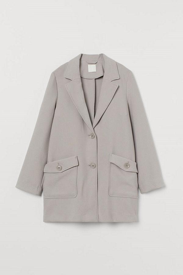 H&M Kort kappa grå
