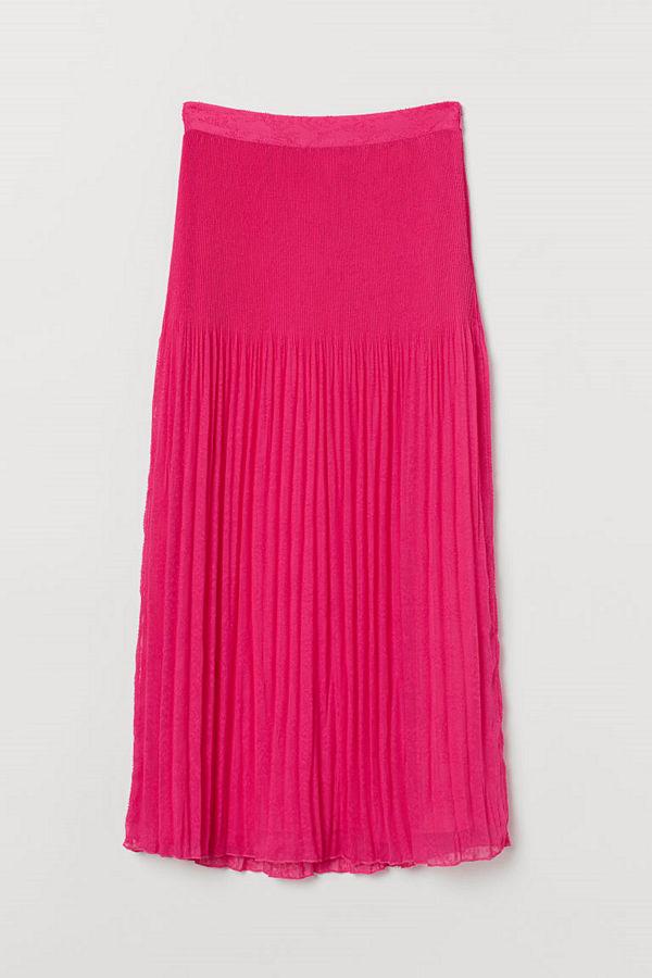 H&M Plisserad kjol rosa