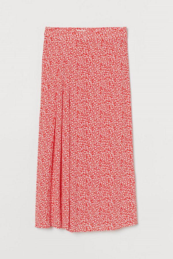 H&M Mönstrad kjol orange