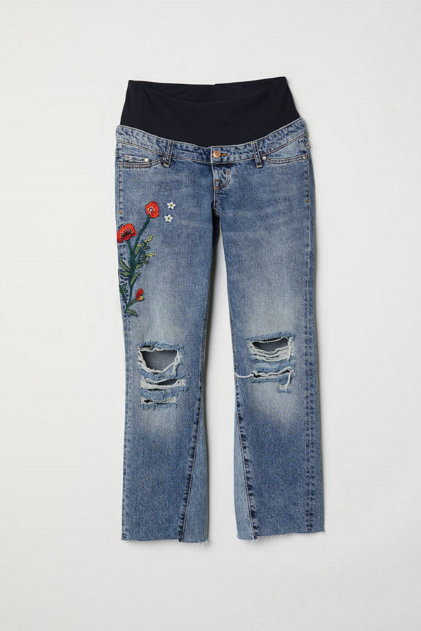 H&M MAMA Kick Flare Jeans blå
