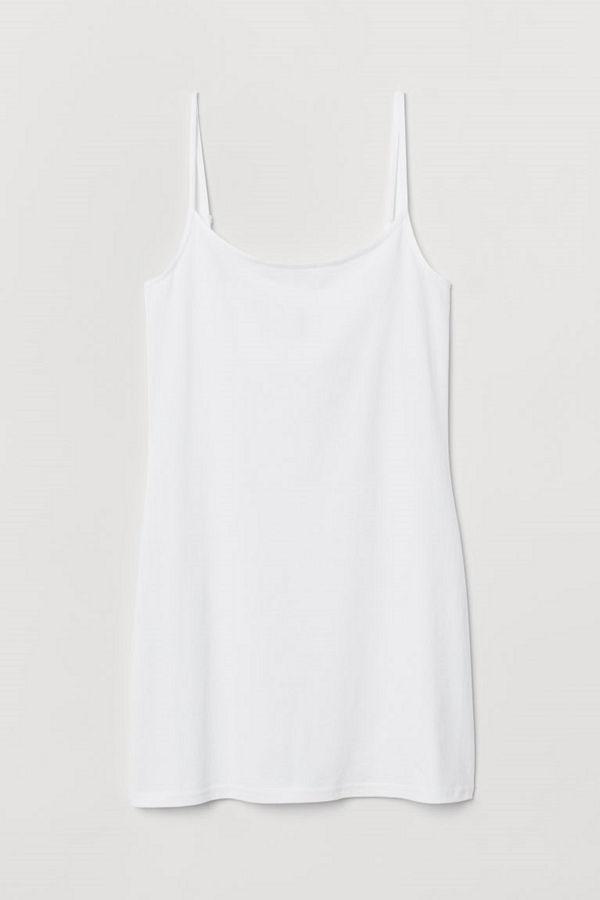 H&M Långt linne vit