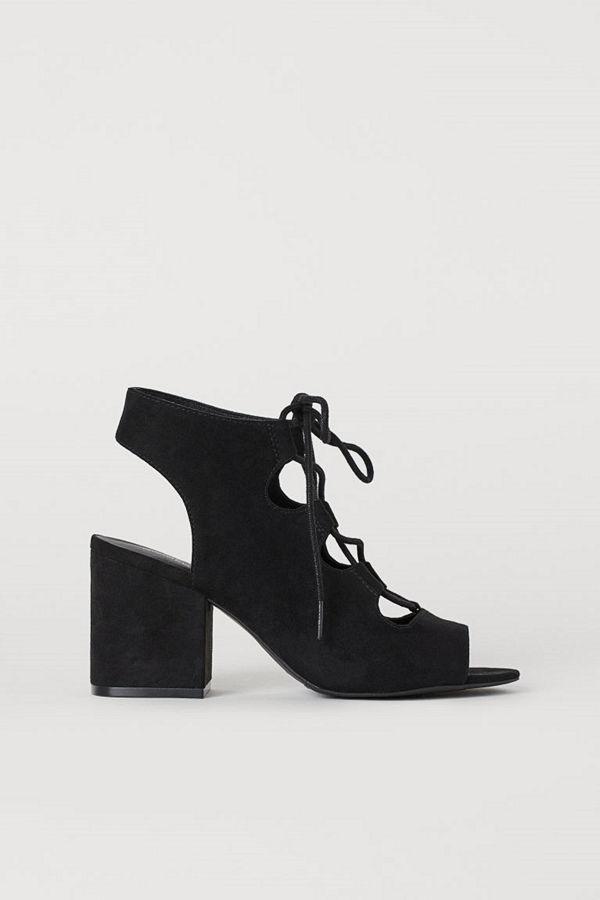 H&M Sandaletter med snörning svart