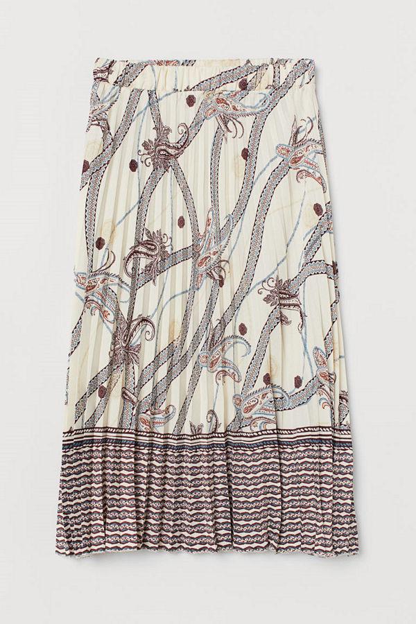 H&M Plisserad kjol brun