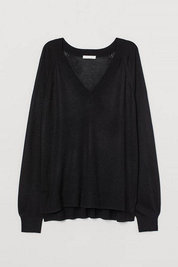 H&M V-ringad tröja svart