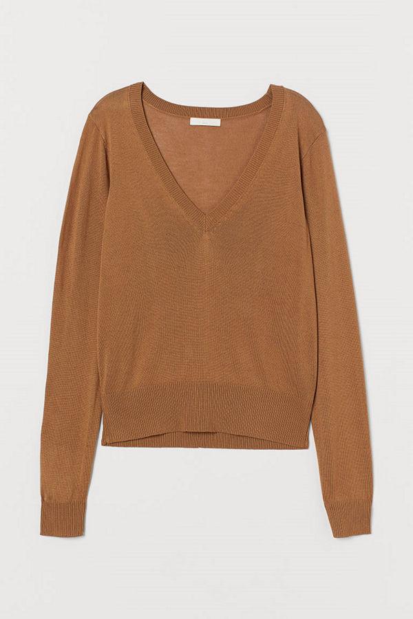 H&M V-ringad tröja beige