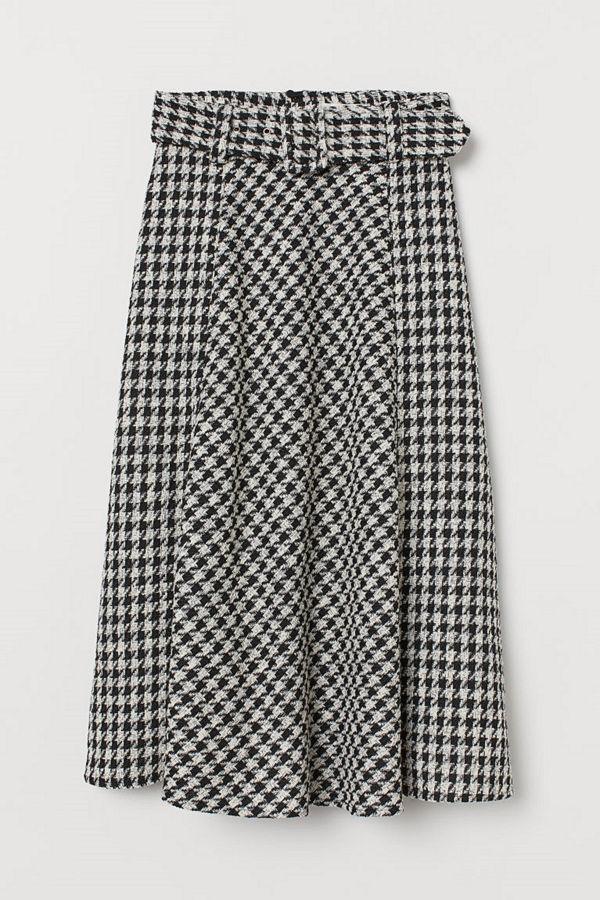 H&M Jacquardvävd kjol svart