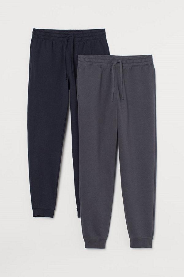 H&M 2-pack sweatpants grå