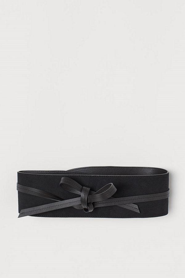 H&M Midjeskärp med knytband svart